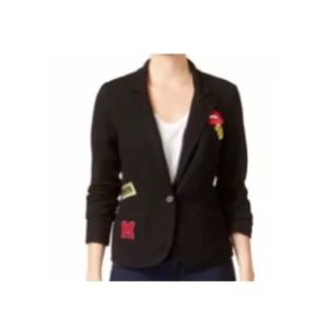 Freshman Girls Patch Front Pockets Knit Cardigan